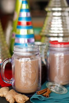 Homemade Gingerbread Latte Recipe -- make your own homemade gingerbread syrup to create a homemade gingerbread latte that rivals Starbucks (I actually like it better)! Oh, and learn how to make steamed milk in your microwave, too...