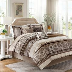 Madison park stanford 7-pc. comforter set - king (home and bedding / mosaic pattern bedroom decor)