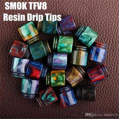 Vaporizer Tfv8 Drip Tip Epoxy Resin Drip Tips For Smok Tfv8 Pretty Pattern Resin Drip Tips 510 Mouthpiece For Rdas Vapor Tank Friction Fit Drip Tip Wide Bore Delrin Drip Tip From Daryo123, $2.42  Dhgate.Com