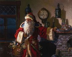 Father Christmas - Santa Claus by fantasy artist Dean Morrissey -- If ALL my loved ones pitched in, maybe we could go halvsies. I. Want. This!!