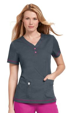 For medical uniform scrub tops that are both professional and unique, visit Uniforms & Scrubs. Our men's and women's tops come in a variety of styles. Healthcare Uniforms, Medical Uniforms, Work Uniforms, Cute Scrubs Uniform, Scrubs Outfit, Florida Fashion, Womens Scrubs, Uniform Design, Medical Scrubs