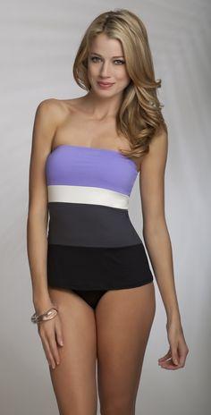 7fa789e0b3 Anne Cole 2013 Color Block Lilac Bandeau Tankini. Bandeau Tankini · Tankini  Top  Yellow Tankini  Maternity One Piece Swimsuit ...