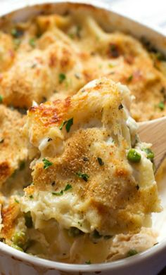 Garlic Parmesan Chicken Lasagna Bake