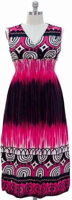 NWT-Plus SZ. Maxi  Dress -Fuschia .01 Cent SUMMER SALE BIDDING NOW!  1X