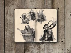 Here at Inspiration Hut we love peeking into artists' sketchbooks. Below we have the impressive Moleskine sketchbook of Ivan Meshkov