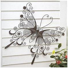 Amazon.com : Wind & Weather SC8300 Metal Butterfly Wall Art Sculpture : Garden & Outdoor