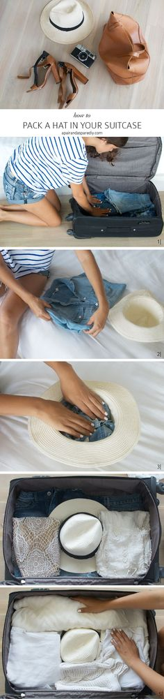 How to pack a hat in your suitcase//
