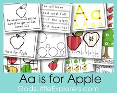 A is for Apple preschool theme