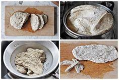 Szellem a fazékban: Búzahús (szejtán) készítése Feta, Icing, Dairy, Cooking Recipes, Bread, Cheese, Breakfast, Desserts, Budget