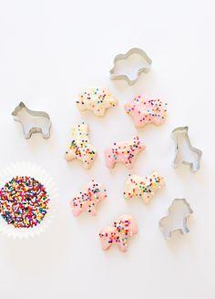 Homemade Iced Animal Cookies