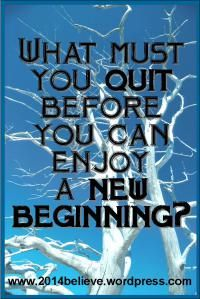 What do you believe in? I believe in being a great quitter. www.2014believe.wordpress.com