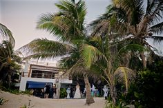 Outside of the party venue - Emily & Rishi's destination wedding in Tulum