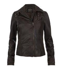 Belvedere Leather Jacket, Women, Leather, AllSaints Spitalfields