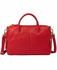 Fossil Handbag, Erin Leather Satchel - Satchels - Handbags & Accessories - Macy's