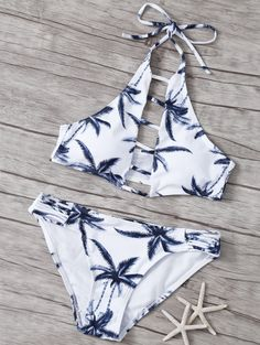 SHARE & Get it FREE | Coconut Tree High Neck Bikini SetFor Fashion Lovers only:80,000+ Items • New Arrivals Daily Join Zaful: Get YOUR $50 NOW!