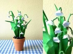Origami Lily of the Valley - YouTube