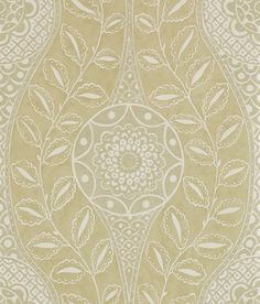 Florentine Antique Gold (110633) - Harlequin Wallpapers - A dramatic oversize ogee trellis pattern enhanced with beading and metallic inks. Shown in the Antique gold colourway, please request sample for true colour. Paste the wall product.