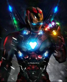 Iron Man with Infinity Gauntlet Marvel Avengers, Iron Man Avengers, Marvel Comics, Bd Comics, Marvel Heroes, Deadpool Comics, Deadpool Wolverine, Captain Marvel, Poster Superman