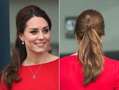 Kate Middleton Ponytail Bump - Kate Middleton Revealed Quite a Bump Today - Elle
