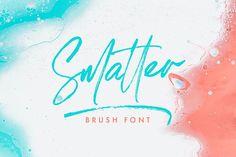 Smatter - Brush Script Handwritten Fonts, Typography Fonts, Serif Font, Sans Serif, Brush Script, Creative Fonts, Typographic Design, Lettering Design, Tool Design