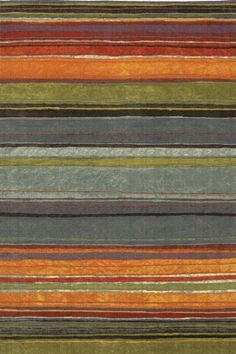Mohawk Home Carleton Rainbow Blue Grey / Orange / Steel Blue (416) Area Rugs