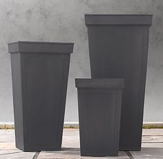 Weather Resistant Sheet Metal Weathered Zinc Planters 95