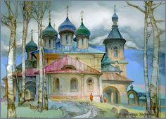 Michail Shelukhin. Lacquer art from Fedoskino. Suzdal.