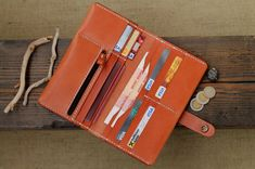Leather Travel Wallet Mens Wallets Men's Leather Wallet