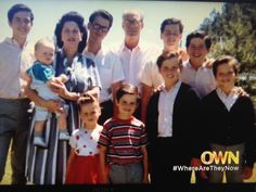 Osmond Family:  Alan, Olive holding Jimmy, Virl, George, Tom and Wayne. Marie, Donny Merrill and Jay.