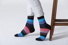 Socks n Socks - Men's 5-pair Striped Luxury Turkish Cotton Dress Socks