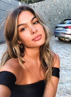 Popular Balayage Hair Looks Women - Othence Brown Hair With Highlights, Brown Blonde Hair, Platinum Blonde Hair, Blonde Wig, Brunette Hair, Color Highlights, Sunkissed Hair Brunette, Short Blonde, Golden Highlights