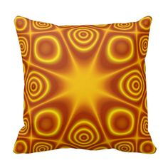 Red yellow abstract pattern pillow