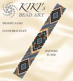 This is an own designed pattern in PDF format, downloadable directly from ETSY. This pattern is for the Desert sand ethnic inspired LOOM bracelet , which is created for using Japanese delica beads. The pdf file includes: 1. a large picture of the pattern 2. a large, detailed graph of