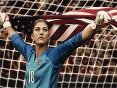 Hope Solo- she is my idol and who I someday want to be like. I have based my soccer career on achieving the goal of being the goalkeeper for the USA Womens soccer team :) Team Usa, Usa Soccer Team, Soccer Goalie, Us Soccer, Girls Soccer, Soccer Players, Soccer Stuff, Soccer Sports, Youth Soccer