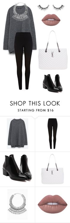 """Untitled #228"" by itsamandarose on Polyvore featuring River Island, Yves Saint Laurent, Tobi and Lime Crime"