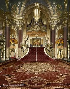 Fox Theater, San Francisco - Grand Staircase in Lobby Stairs Architecture, Beautiful Architecture, Beautiful Buildings, Architecture Design, Beautiful Places, Theater Architecture, Vintage Architecture, San Fransisco, Grand Staircase