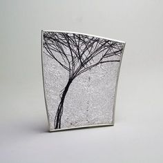 Gill Galloway Whitehead - Silver Tree Brooch - ORRO Contemporary Jewellery Glasgow
