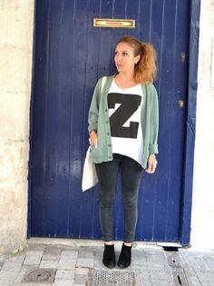 T-shirt blanc Z #h par @Knot_and_Tea www.topknotandteacups.com