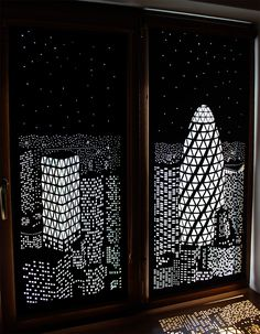 Buildings and Stars Cut into Blackout Curtains Turn Your Windows Into Nighttime Cityscapes | Colossal