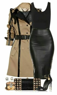Burberry, Yummie by Heather Thomson, Judith Leiber, Tom Ford, and Kate Spade Classy Outfits, Chic Outfits, Fall Outfits, Fashion Outfits, Womens Fashion, Ladies Fashion, Black Outfits, Girly Outfits, Petite Fashion