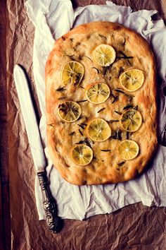 Focaccia with Rosemary, Meyer Lemon and Sea Salt |