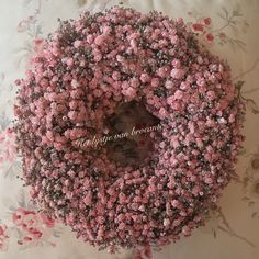 Homemade gypsophila wreath......by Silvia Hokke