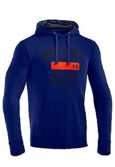 b1dae7583 NWT Men Under Armour Storm Cold Gear Loose Fit Blue Orange Hoodie NEW Free  Ship Under