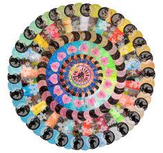 """Saatchi Online Artist: Virginia Fleck; Other, 2008, Assemblage / Collage """"Makeover Mandala"""""""