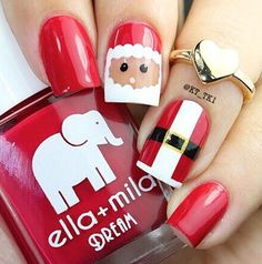 50 Fabulous Christmas Nail Art Designs | Random Talks