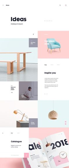 Minimalistic UI/UX design with clean and easy interface for Nona home website.