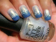 @Emily Anton Products OPI & zoya Snow themed nail art @Zoya Zinger Nail Polish  @Emily Anton Nails UK