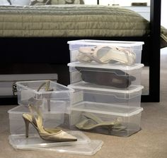 Ladies Shoe Box - Shoe Boxes | Shoe Drawers | Shoe Organisers | Hanging Shoe Storage