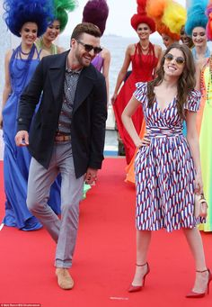 Anna Kendrick dazzles in canary yellow dress with Justin Timberlake at Cannes | Daily Mail Online