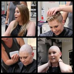Shaved Hair Women, Shaved Hair Cuts, Shaved Heads, Short Shaved Hairstyles, Straight Hairstyles, Long Hair Cut Short, Short Hair Styles, Bald Head Women, Forced Haircut